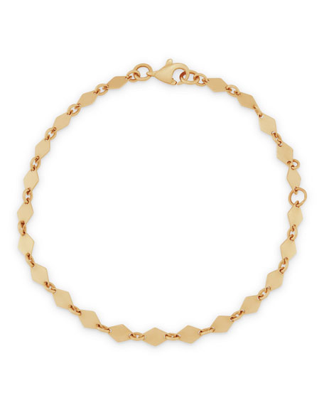 14k Mini Kite Chain Bracelet