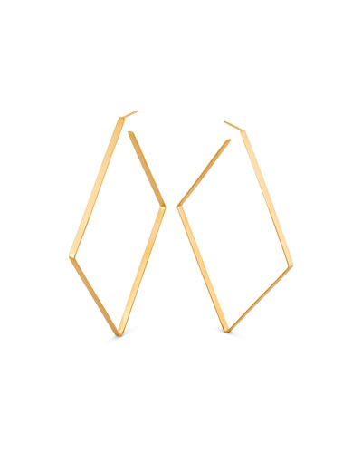 14k Diagonal Hoop Earrings