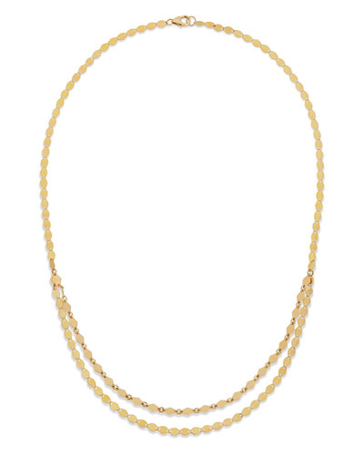 14k Kite Double-Strand Necklace