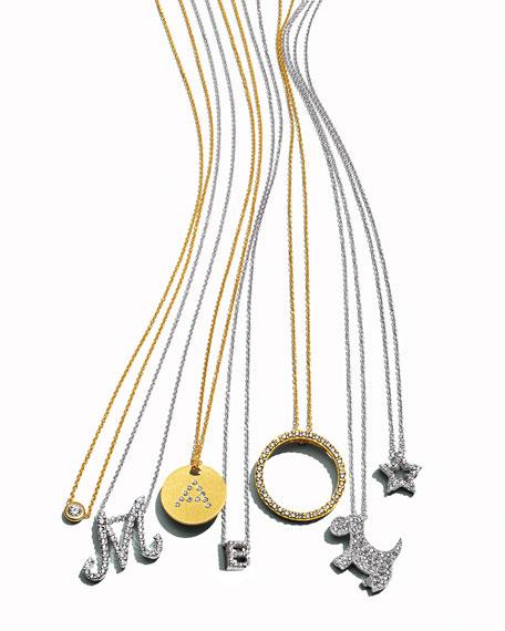 18k Diamond Scottie Dog Pendant Necklace