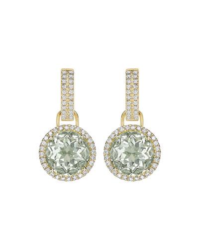 Grace Green Amethyst & Diamond Round Drop Earrings