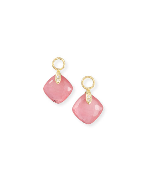 Jude Frances 18k Lisse Small Cushion Earring Charms,
