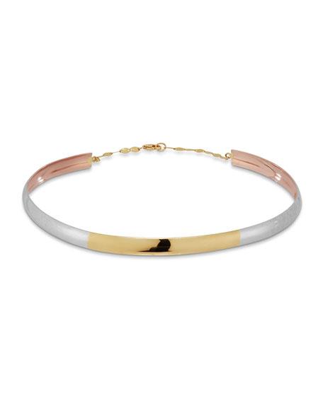 14k Alias Double Tri-Curve Choker Necklace