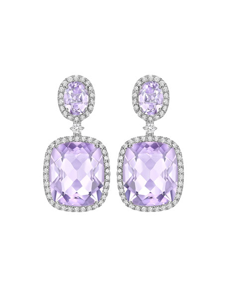 Signature Lavender Amethyst & Diamond Drop Earrings