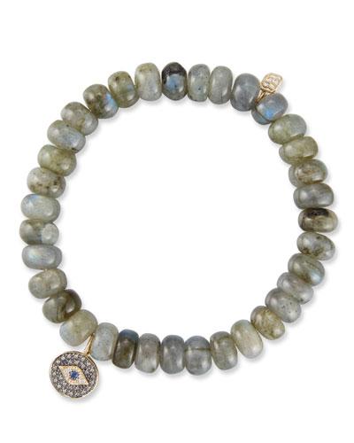 14k Rondelle Bracelet w/ Eye Medallion