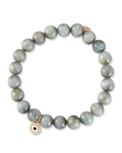 14k Cat's Eye Bracelet w/ Eye Medallion