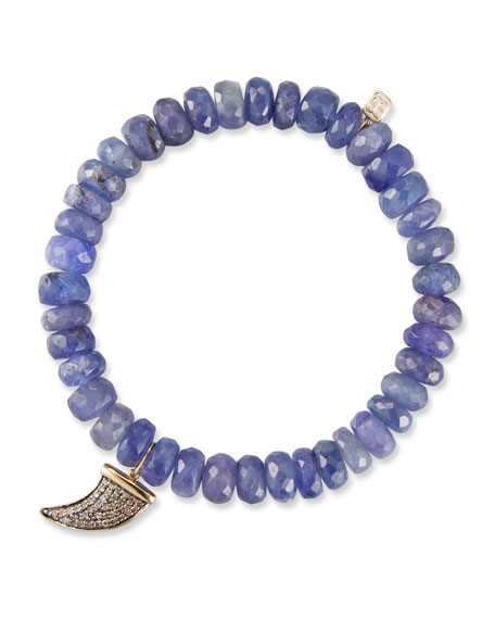 Sydney Evan 14k Tanzanite Rondelle Bracelet w/ Horn