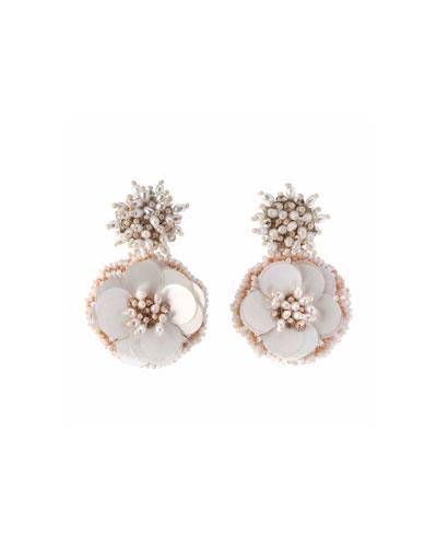 Marnie Beaded Flower Earrings