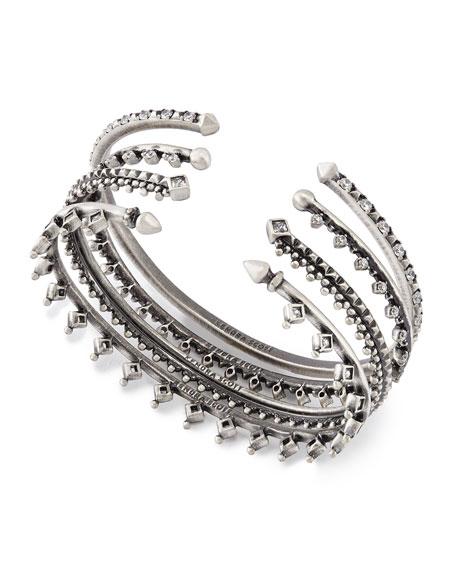 Delphine Crystal Stacking Bracelets