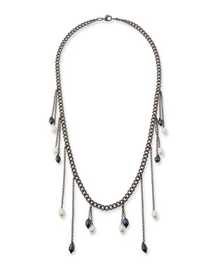 Hipchik Sari Multi-Pearl Drop Necklace