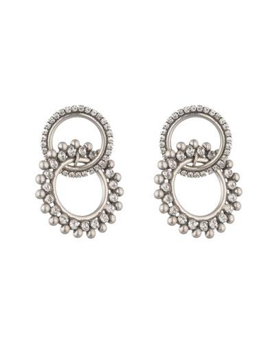 Truby Double-Link Crystal Earrings