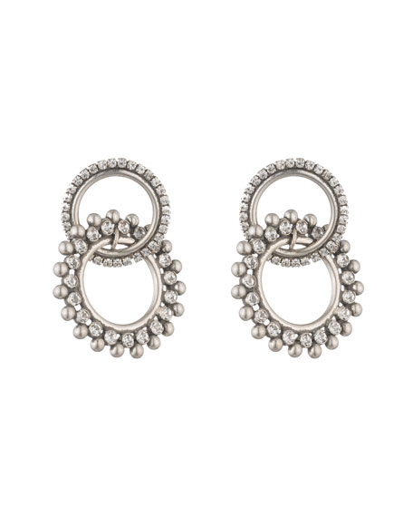 Dannijo Truby Double-Link Crystal Earrings