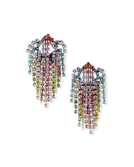 Dannijo Cecilia Rainbow Cluster Statement Earrings