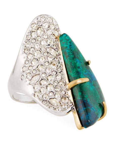 Alexis Bittar Roxbury Crystal Encrusted Stone Ring