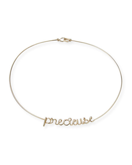 Personalized 6-Letter Wire Necklace, Silver
