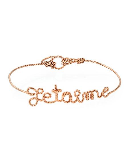 Personalized 10-Letter Twist Wire Bracelet, Rose Gold Fill