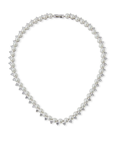 Micro Pearl Collar Necklace