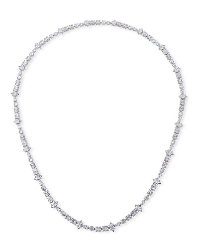 Jagged-Edge Extra-Long Necklace