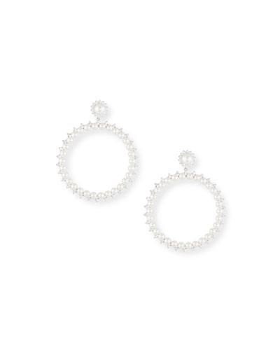 Pearly Drama Hoop Earrings