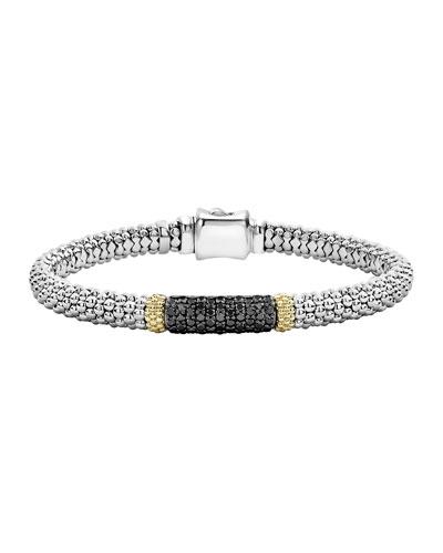 Diamond Lux Caviar 6mm Single Station Bracelet