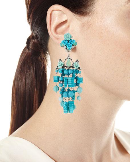 Lionel Beaded Chandelier Clip-On Earrings
