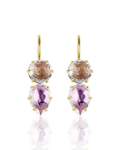 Caterina Round Pear Earrings, Fawn/Rose