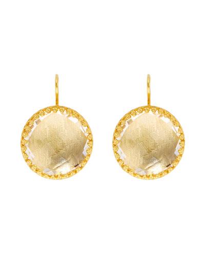 Olivia Button Earrings, Sancerre