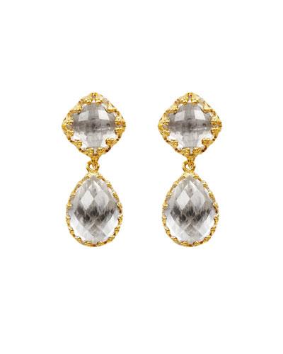 Jane Small Earrings, White Quartz