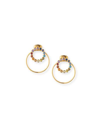 Rainbow Earrings w/ Hoop Jacket
