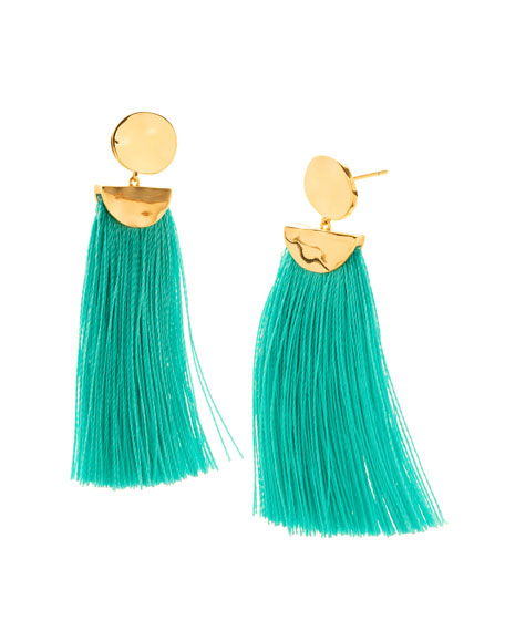 Havana Circle Drop Earrings, Emerald