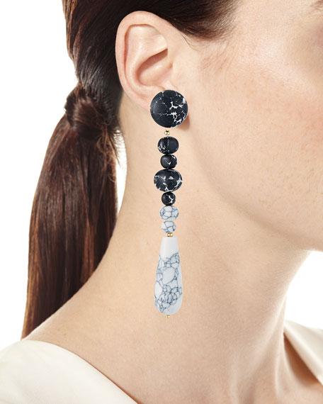 Copacabana Earrings, Black/White