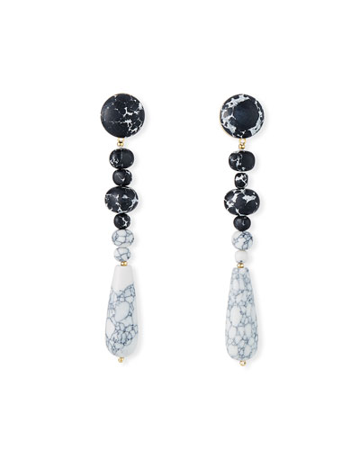 Copacabana Earrings, Black/White