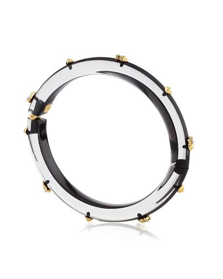 Golden Studded Hinge Bangle Bracelet