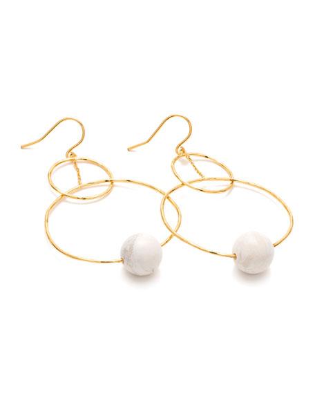 Interlocking Hoop Drop Earrings
