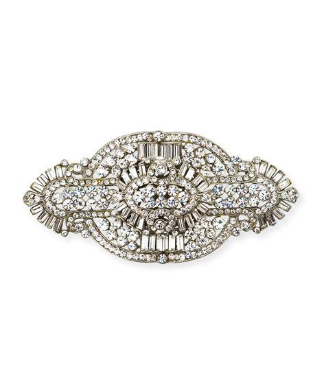 Clear Crystal Brooch