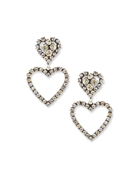 Dannijo Lola Heart Drop Earrings