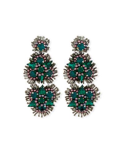 Anastasia Crystal Clip-On Earrings