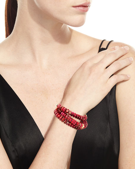 Jasper Stretch Bead Bracelets, Set of 3