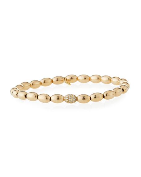 SYDNEY EVAN 14K GOLD & DIAMOND BEAD BRACELET