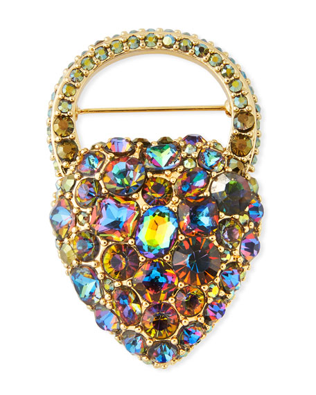 Nina Rainbow Crystal Brooch