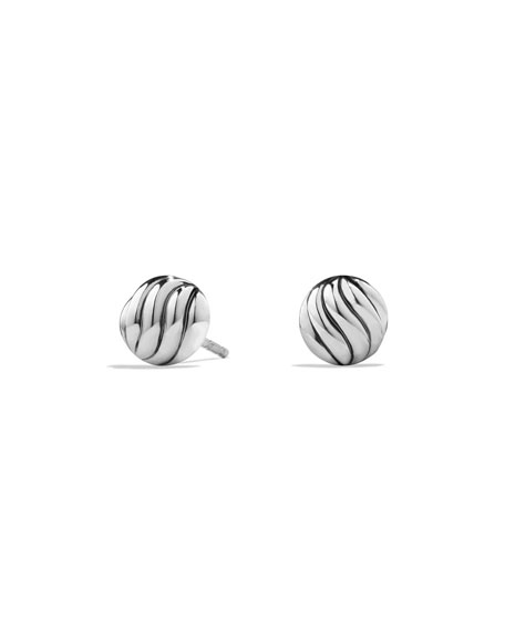 Sculpted Cable Stud Earrings in Sterling Silver