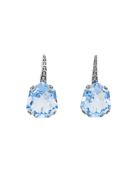 Stephen Dweck Galactical Freeform Quartz Earrings, Aquamarine