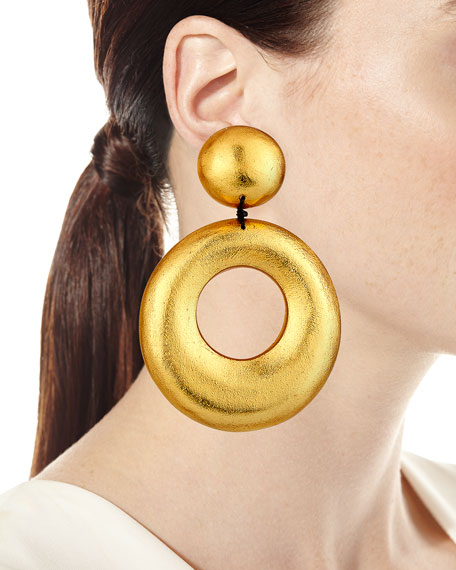 Door-Knocker Clip-On Statement Earrings