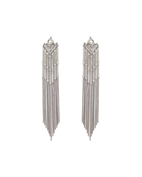 Dylanlex Hanna Metal Fringe Tassel Dangle Earrings