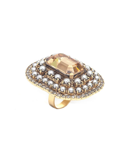 Etta Silver & Gold-Plate Statement Ring