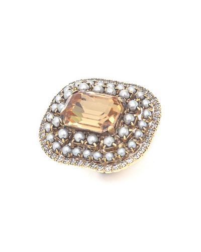 Etta Silver & Gold-Plate Statement Ring