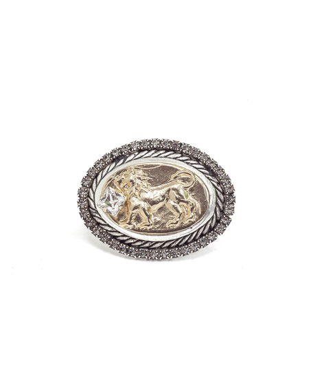 DYLANLEX Lia Signet Ring W/ Lion Motif in Gold