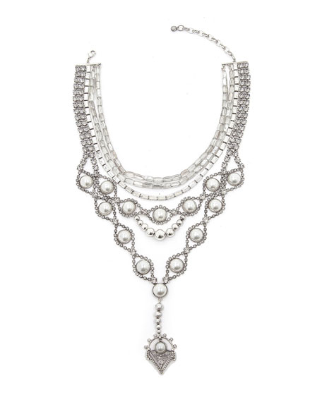Gigi Statement Bib Necklace w/ Y-Drop
