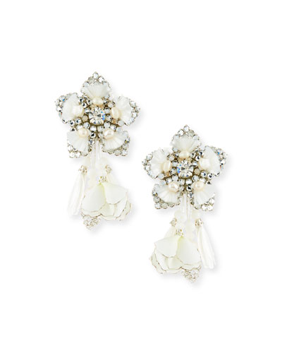 Emmanuelle Petal Clip-On Earrings