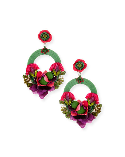 Bonita Hoop Drop Clip-On Earrings